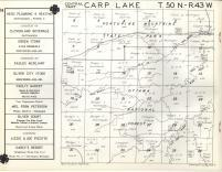 Carp Lake T50N-R43W, Ontonagon County 1959